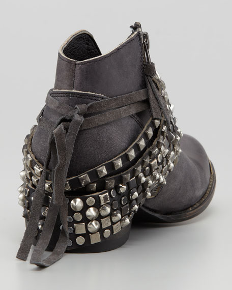 Mezcal Low Studded Leather Bootie
