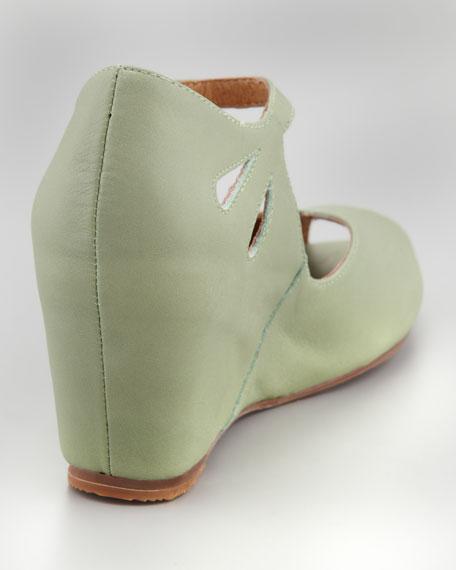 Regina Peep-Toe Wedge, Green