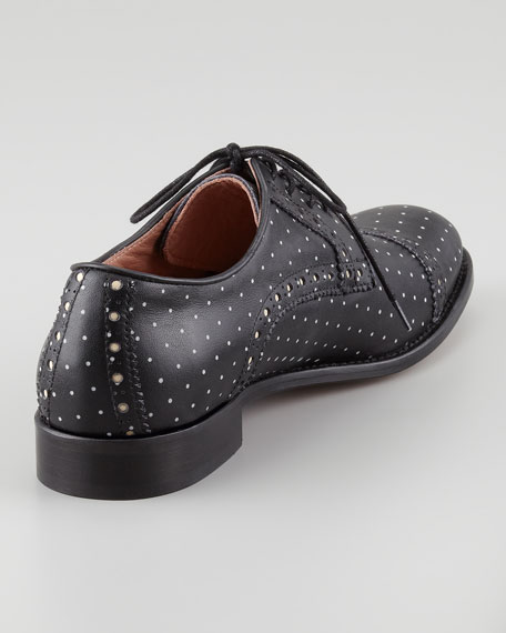 Polka-Dot Oxford, Black/White
