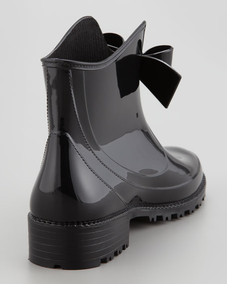 Short Rain Boots With Bow