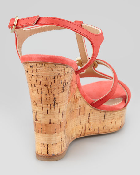 Savita Cork Wedge Sandal