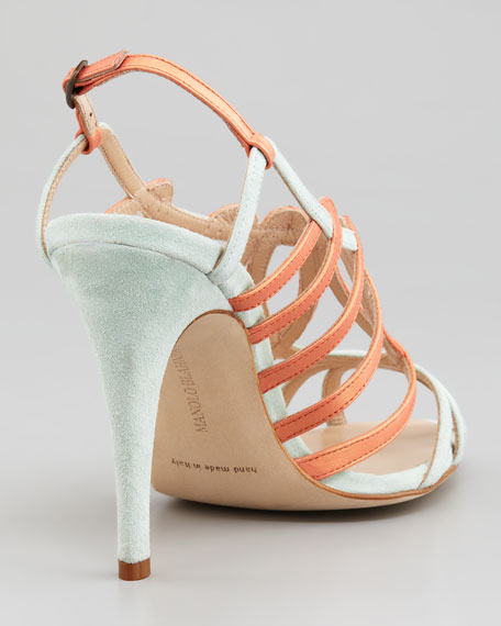 Porzio Two-Tone Leather Sandal