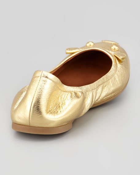 Metallic Mouse Scrunch Flat, Gold