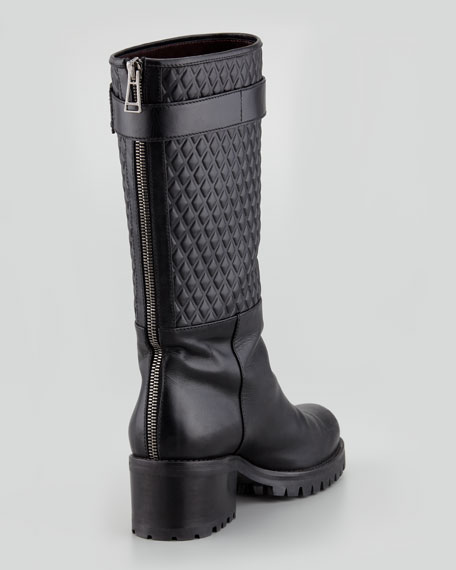 Belgrave Quilted Boot, Black