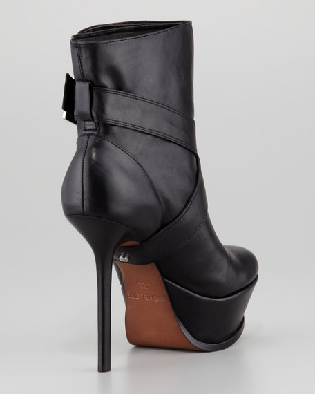 Michelle Leather Platform Boot