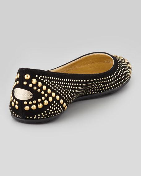 Welda Studded Ballerina Flat, Black