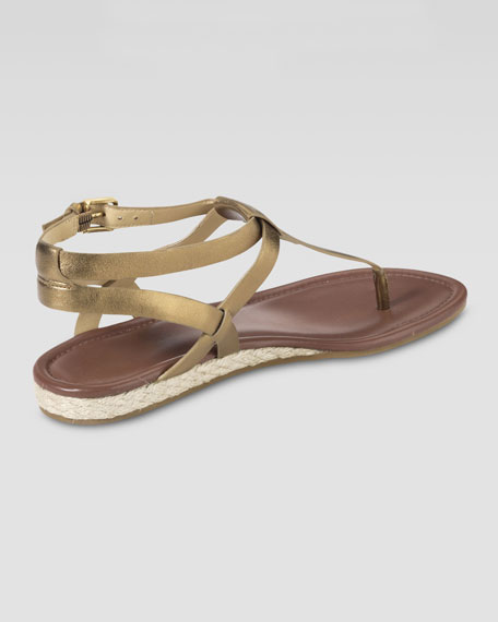 Grove Metallic Sandal, Bronze