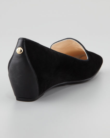 Mabel Suede Wedge Smoking Slipper