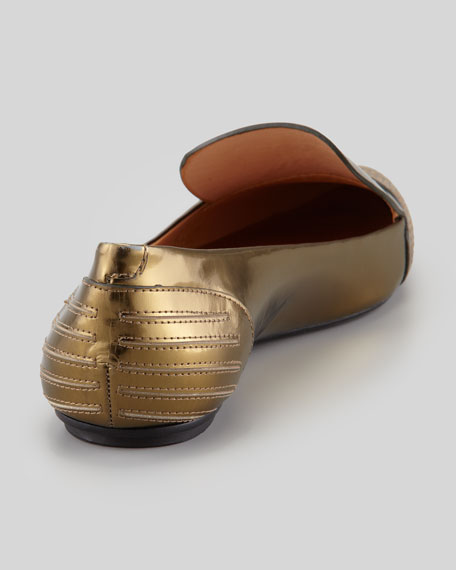 Iva Mirrored Stitched-Toe Slipper