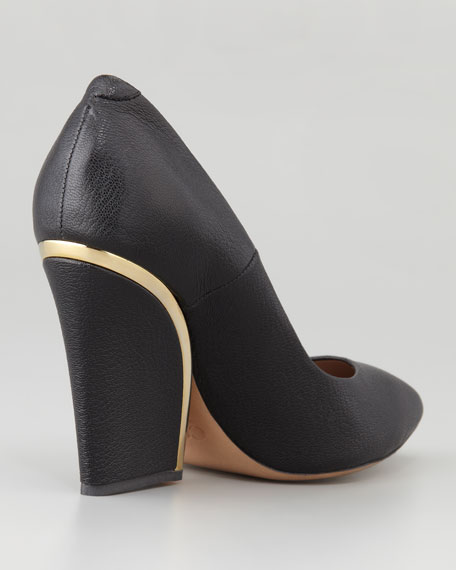 outlet recommend clearance geniue stockist Chloé Leather Wedge Pumps fake cheap price y2iKBjqLx