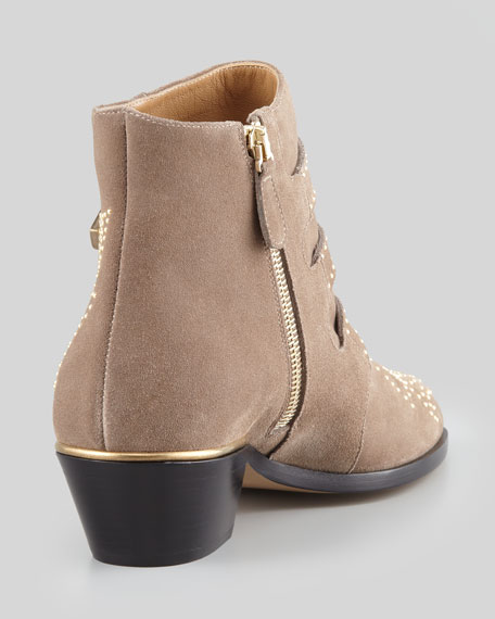 Suzanna Studded Bootie, Taupe/Golden