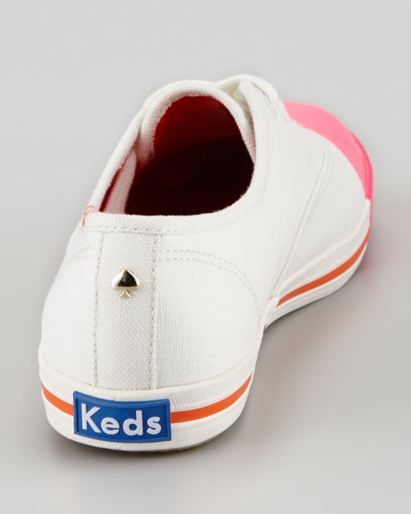 Keds Dipped Toe Sneaker, Raspberry