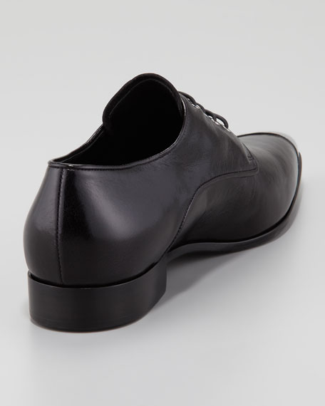 Asymmetric Metal Cap-Toe Oxford