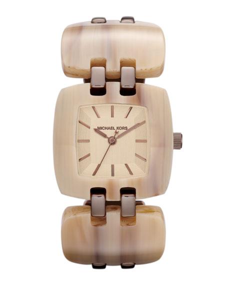 Michael Kors Mid-Size Golden Stainless Steel Brit Three-Hand Watch