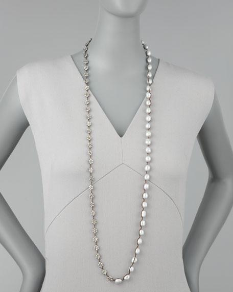 Pearl Wrap Bracelet, Gray