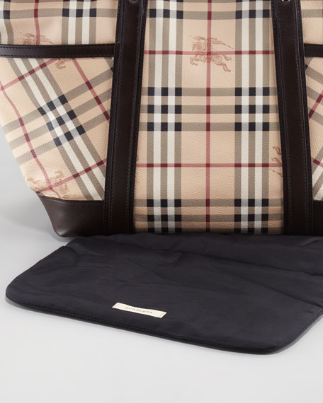 Check Diaper Tote Bag