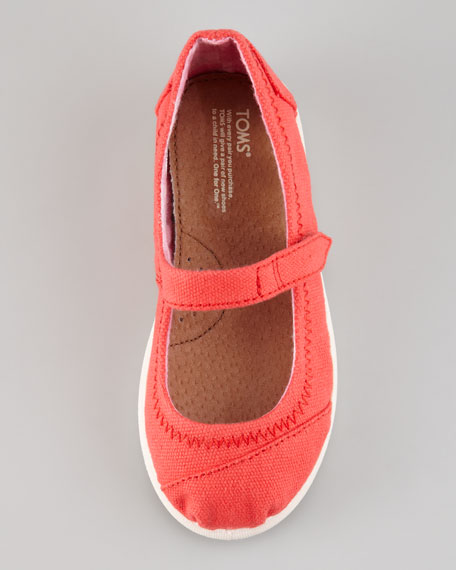 Canvas Mary Jane Slip-On, Red, Tiny