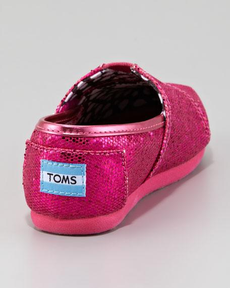 Hot Pink Glitter Shoe, Tiny