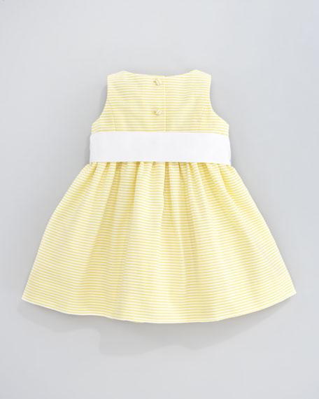 Sleeveless Pincord Dress, Yellow