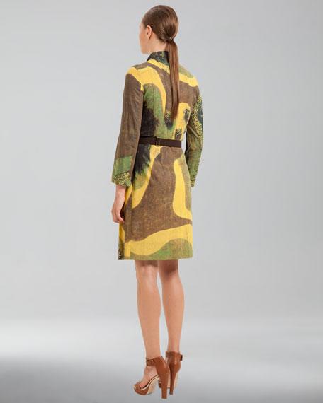 Garden-Print Cotton Voile Dress
