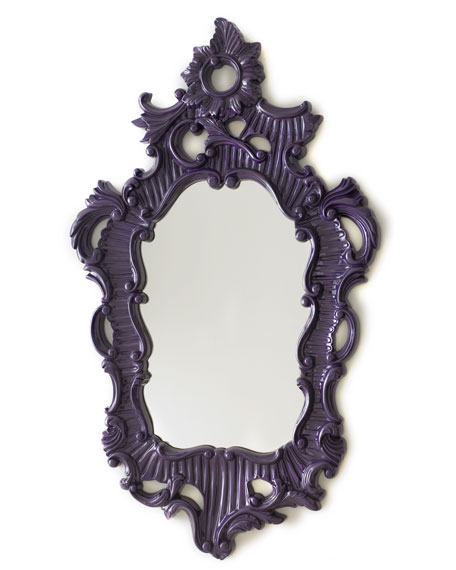Purple Baroque-Style Mirror