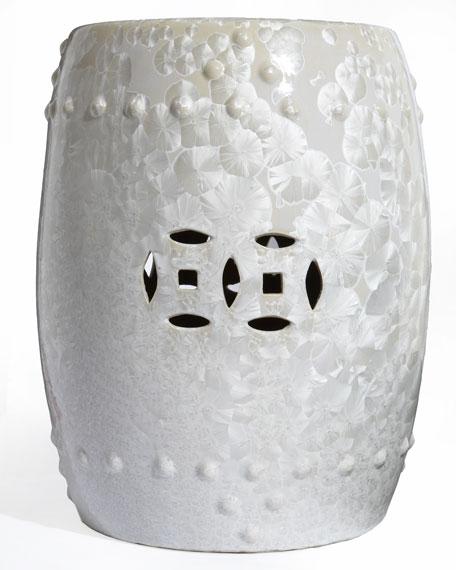 """White Blossom"" Garden Seat"