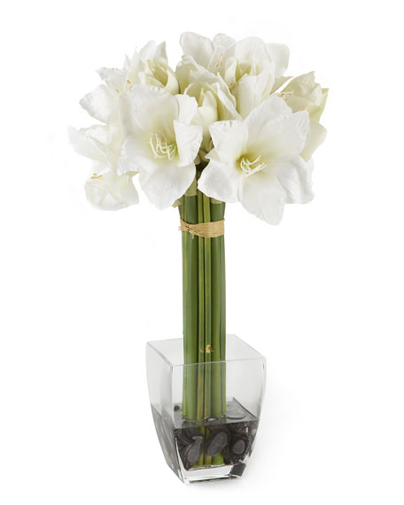 White Amaryllis Floral Arrangement