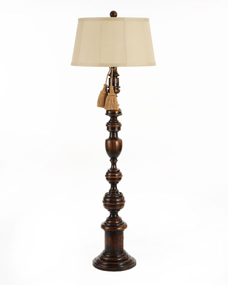 Old World Wood Floor Lamp