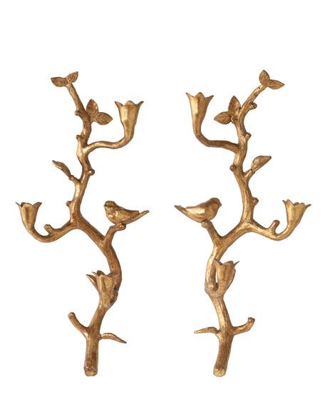"""Bird on a Branch"" Candleholders"