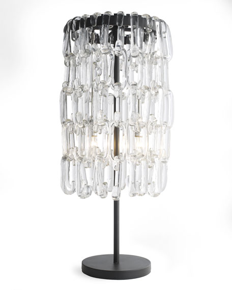 Glass Link Table Lamp