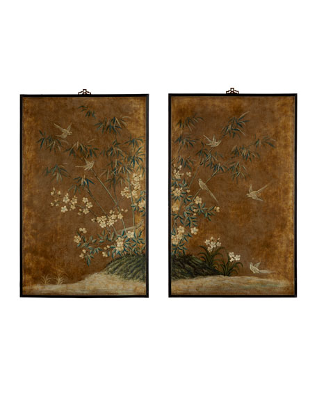 """Two """"Birds in Paradise"""" Panels"""