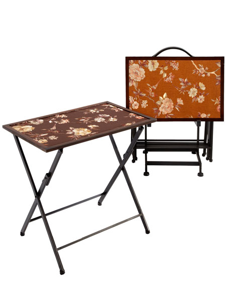 "Four ""Asian"" Folding Trays"