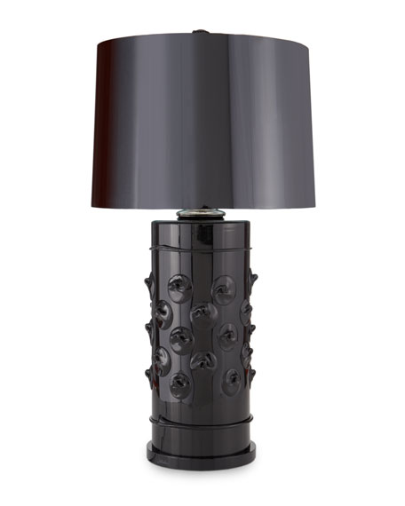 """Florence"" Black Column Lamp"