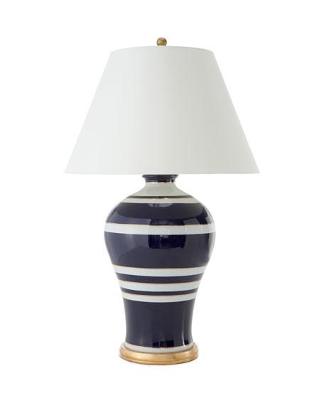 Navy Stripe Lamp