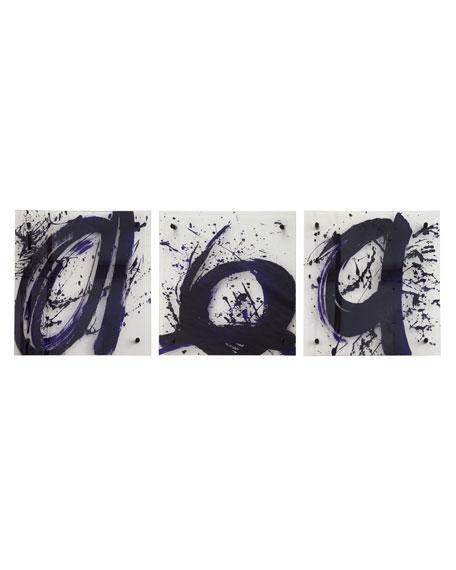 Three Abstract Script Prints