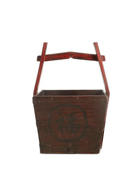Antique Wooden Water Bucket