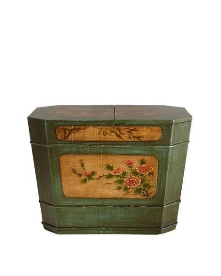Vintage Painted Bin