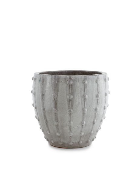 Gray Studded Planter