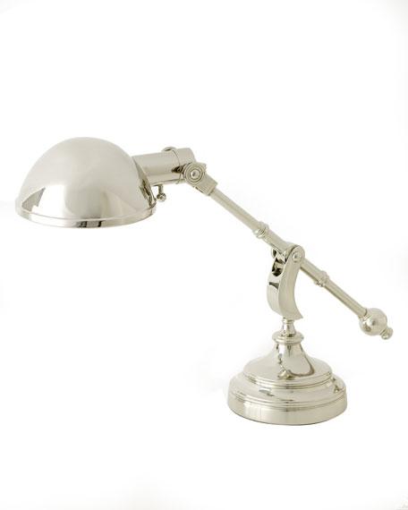 """""""Pimlico"""" Silvery Desk Lamp"""