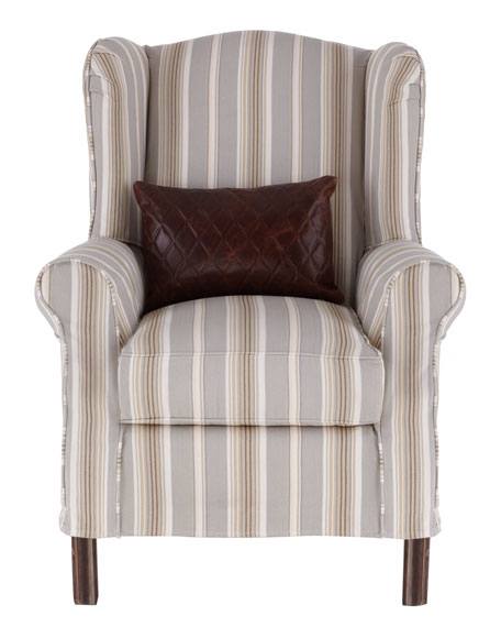 """Kalee"" Striped Chair"