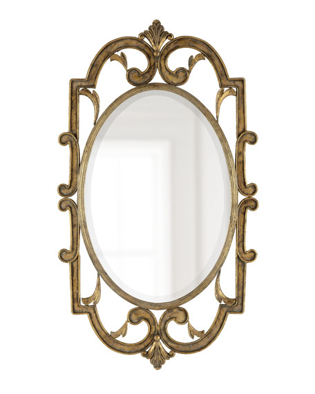 Antiqued Golden Mirror