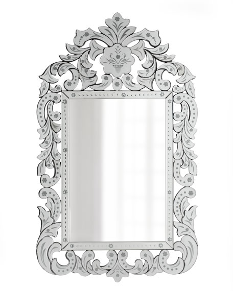 Etched Acanthus-Framed Mirror