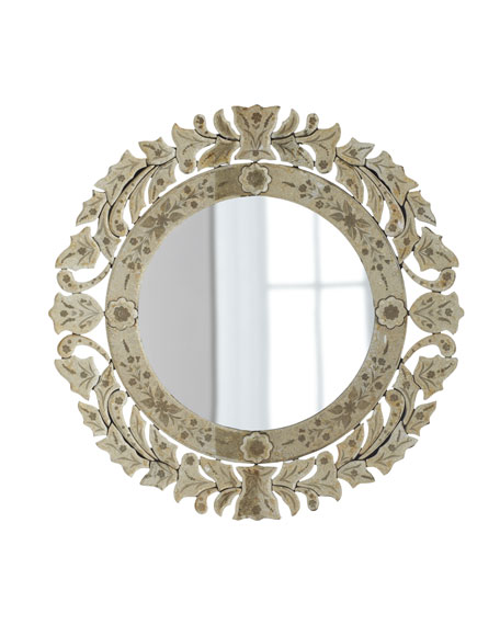 Circular Venetian-Style Mirror
