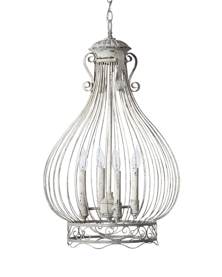 Onion-Shaped Cage Chandelier