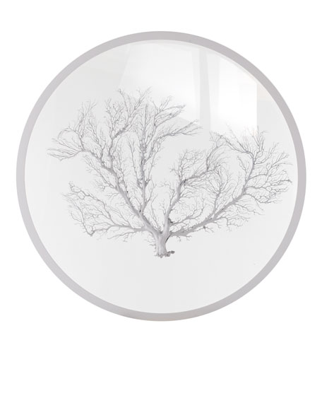 Round White Sea Fan Wall Decor
