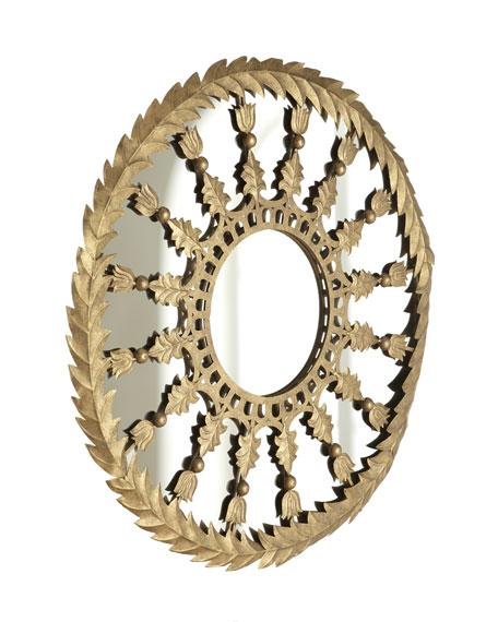 Golden Round Accent Mirror