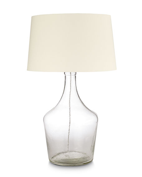 "Clear Recycled Glass ""Bottle"" Lamp"