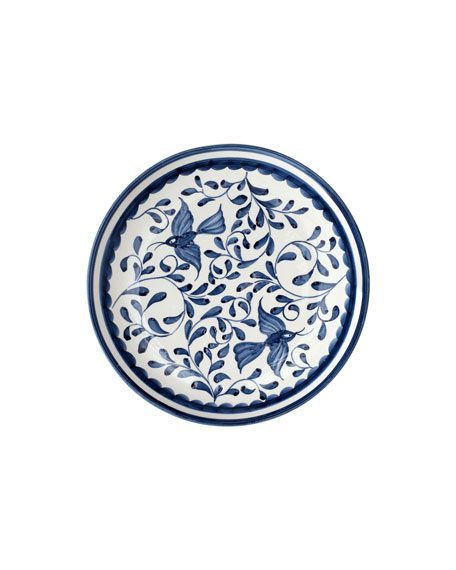 "12-Piece ""Blue Bird & Leaves"" Dinnerware Service"