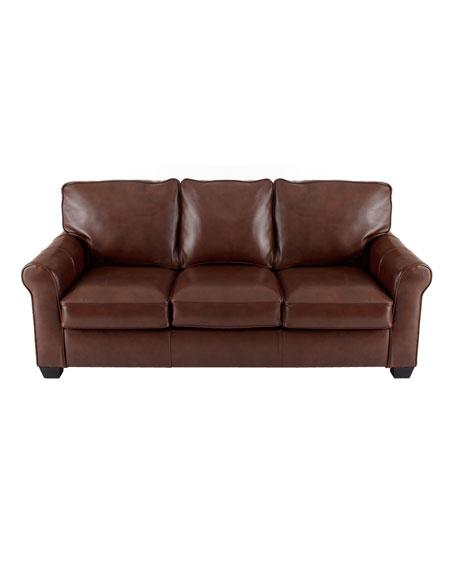 """Mitzi"" Leather Sleeper Sofa"