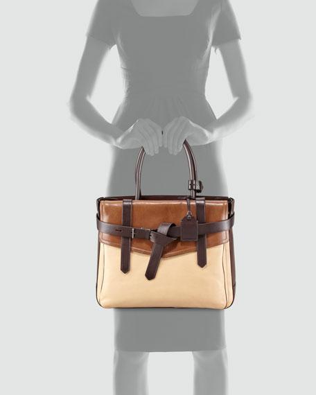 Boxer I Large Tote Bag, Natural/Brown